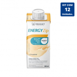 Kit Energyzip Baunilha 200ml - 12 unidades