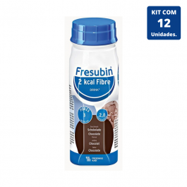 Kit Fresubin 2.0 Kcal Fibre Drink Chocolate 200ml - 12 unidades Fresenius Kabi