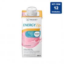 Kit Energyzip Morango 200ml - 12 unidades