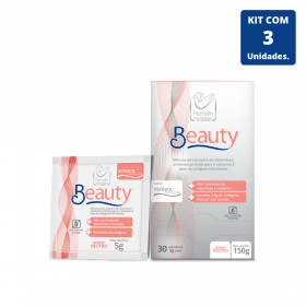Kit Beauty caixa com 30 sâches de 5 g cada - 3 unidades
